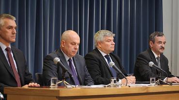 Od lewej : Piotr Lipiec , Wiesław Jedynak , Maciej Lasek i Edward Łojek