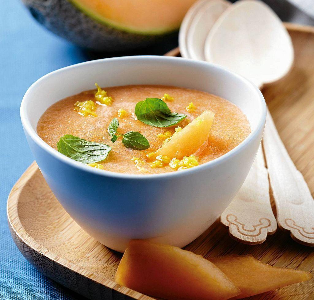 Melonowa zupa z imbirem