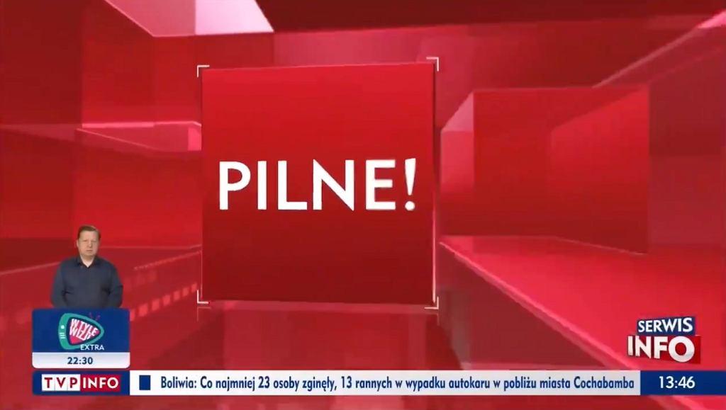 TVP Info przerwało transmisję z konferencji ministra zdrowia Adama Niedzielskiego