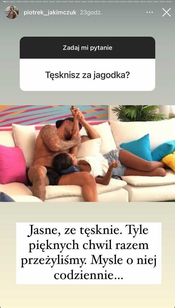InstaStories Piotrka z 'Love Island'
