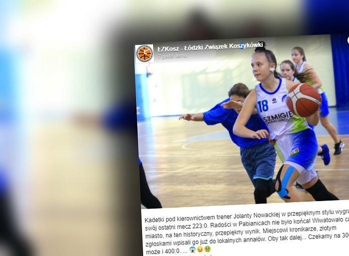 Kadetki PTK Pabianice wygrały mecz 223:0