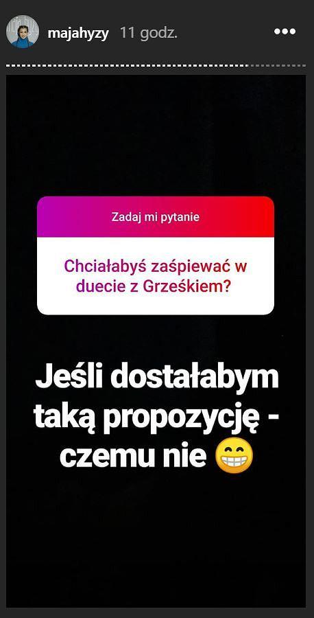 Post z Instagrama Mai Hyży