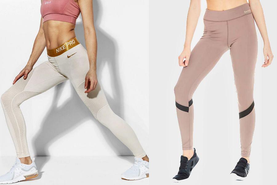 Kolaż / Pastelowe legginsy / Materiały partnerów