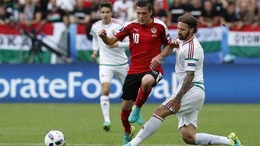 Euro 2016. Mecz Austria - Węgry. Tamas Kadar z Lecha Poznań