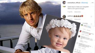 Owen Wilson nie widział córki