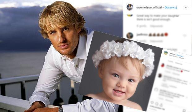 Owen Wilson, znany amerykański aktor nie chce widywać się z córką, ale płaci jej pieniądze