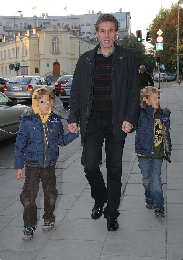 Andrzej Rybkowski z synami