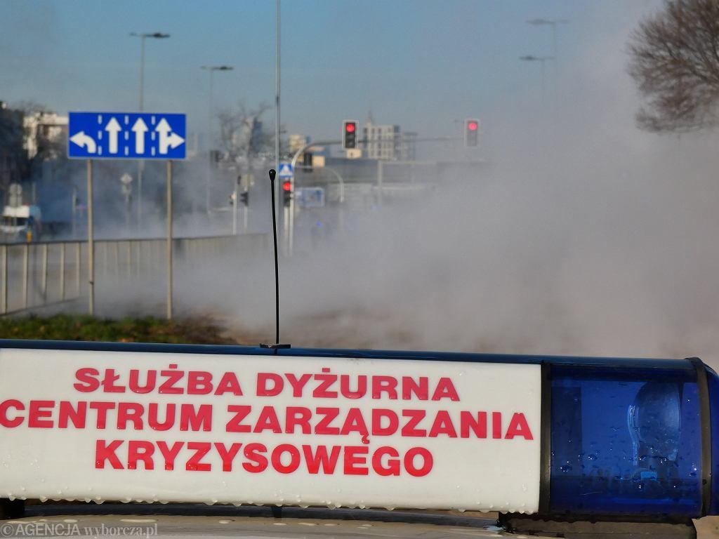Awaria sieci ciepłowniczej w Warszawie