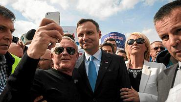 Andrzej Duda podczas kampanii prezydenckiej w 2015 r.