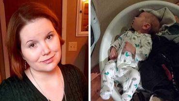 Britt LeBoeuf wyjaśnia, co jej noworodek robił w koszu na pranie.