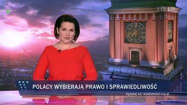 'Wiadomości' TVP1 o sondażu dot. wyborów do Parlamentu Europejskiego