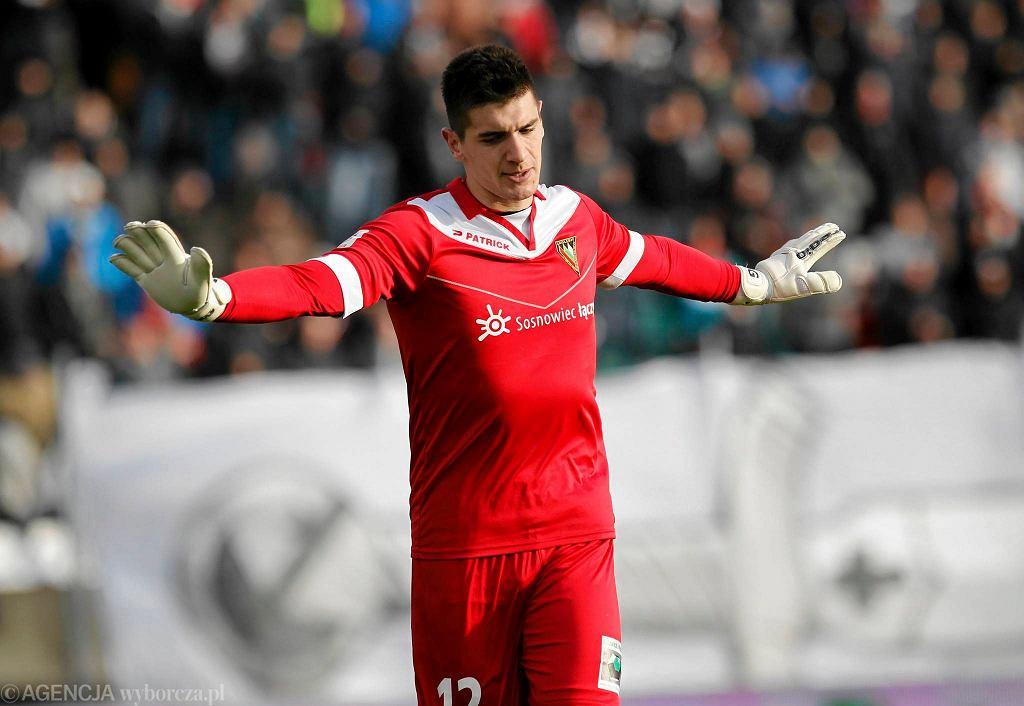 Zagłębie Sosnowiec - GKS Katowice 2:1. Wojciech Fabisiak