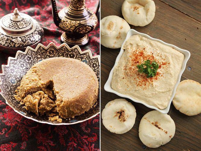 Smaki świata: chałwa (po lewej) i pasta tahini