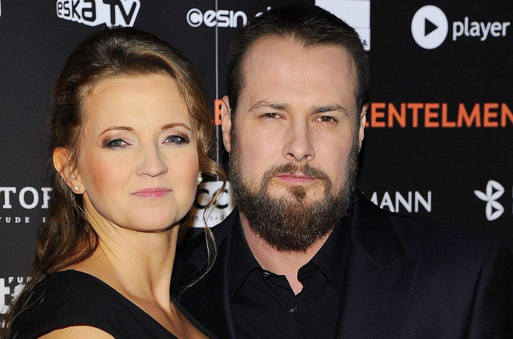 Paweł Małaszyński z żoną