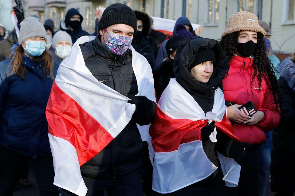 Demonstracja przeciw sfałszowaniu wyborów na Białorusi, Mińsk, 6 grudnia 2020 r.