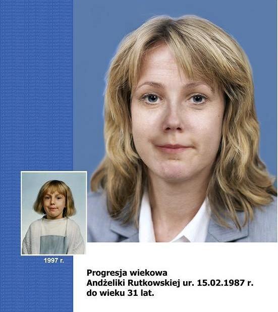 Progresja wiekowa Andżeliki Rutkowskiej (ur. 15.02.1987)