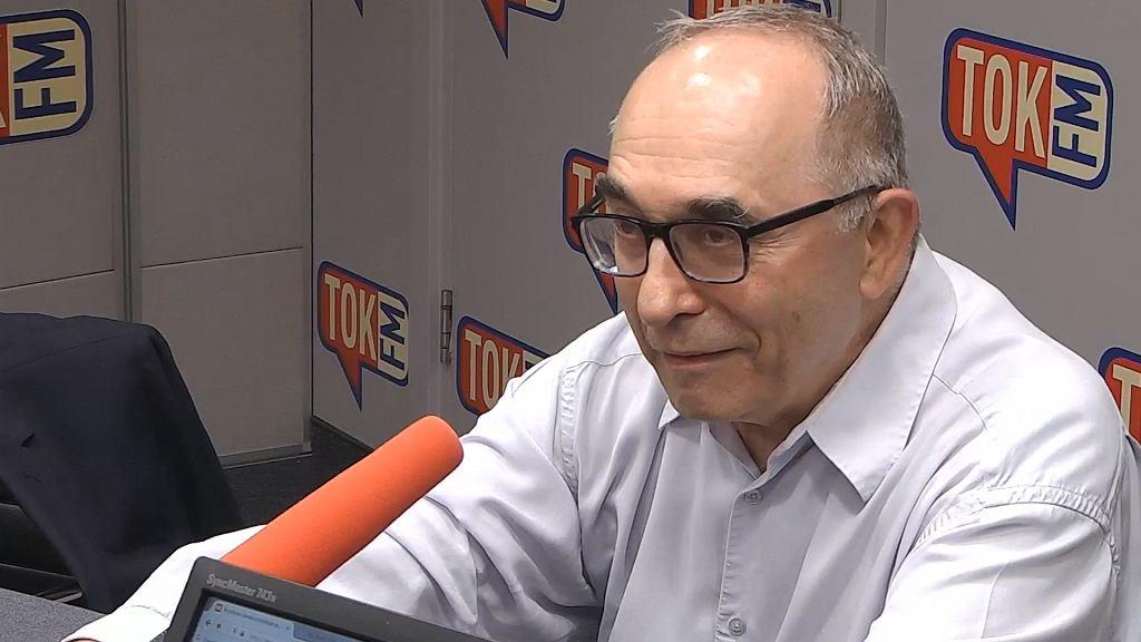 Prof. Aleksander Smolar w studio TOK FM