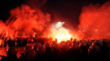 Sobotnia manifestacja górników w Zabrzu