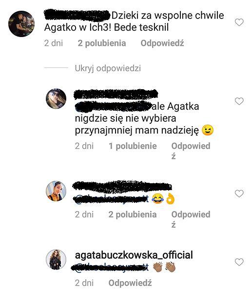Instagram Agaty Buczkowskiej