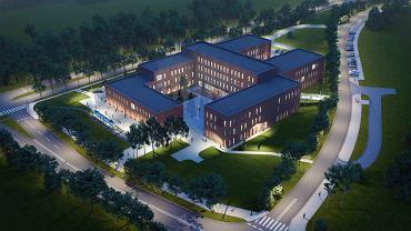 Wizualizacja nowego budynku wydziału prawa i administracji oraz wydziału nauk społecznych
