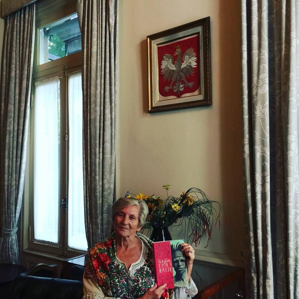 Pani Monika Pytel, sąsiadka Tony'ego Halika, w siedzibie Związku Polaków w Argentynie