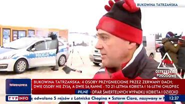 Wypadek w Bukowinie Tatrzańskiej