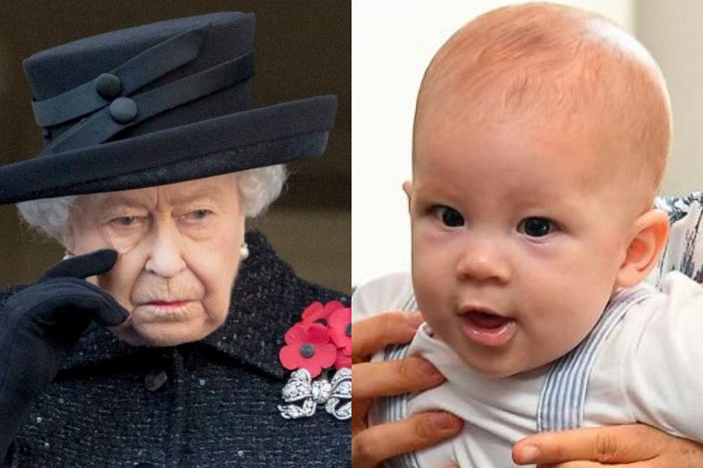 Królowa Elżbieta i Archie