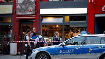 Miejsce, gdzie zatrzymano mężczyznę, który zabił kobietę i ranił pięć osób