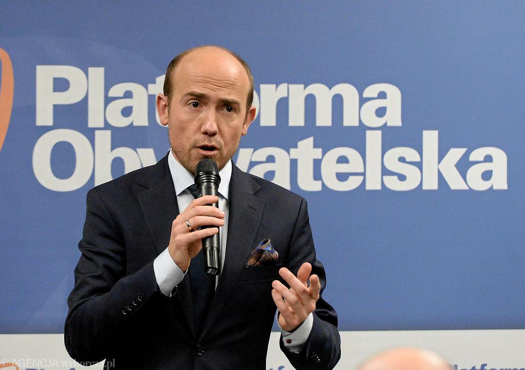 Przewodniczący PO Borys Budka