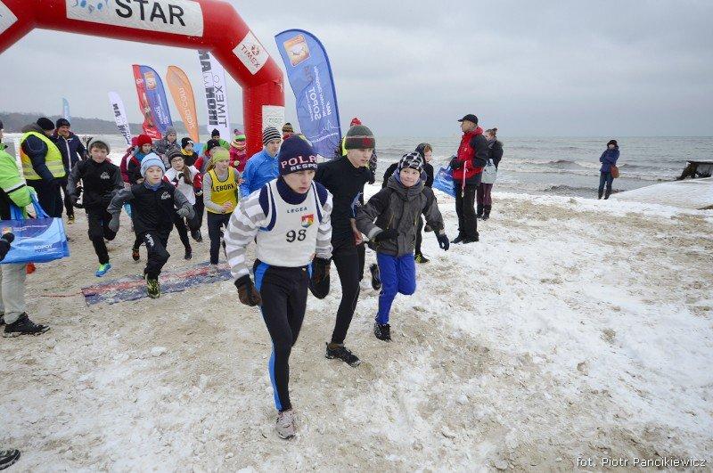 Bieg po plaży w Sopocie