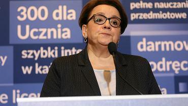 Anna Zalewska, była szefowa MEN uważa, że wprowadzenie lekcji o klimacie do szkół nie potrzeba. Zajęcia na ten temat wpisane są w podstawę programową.
