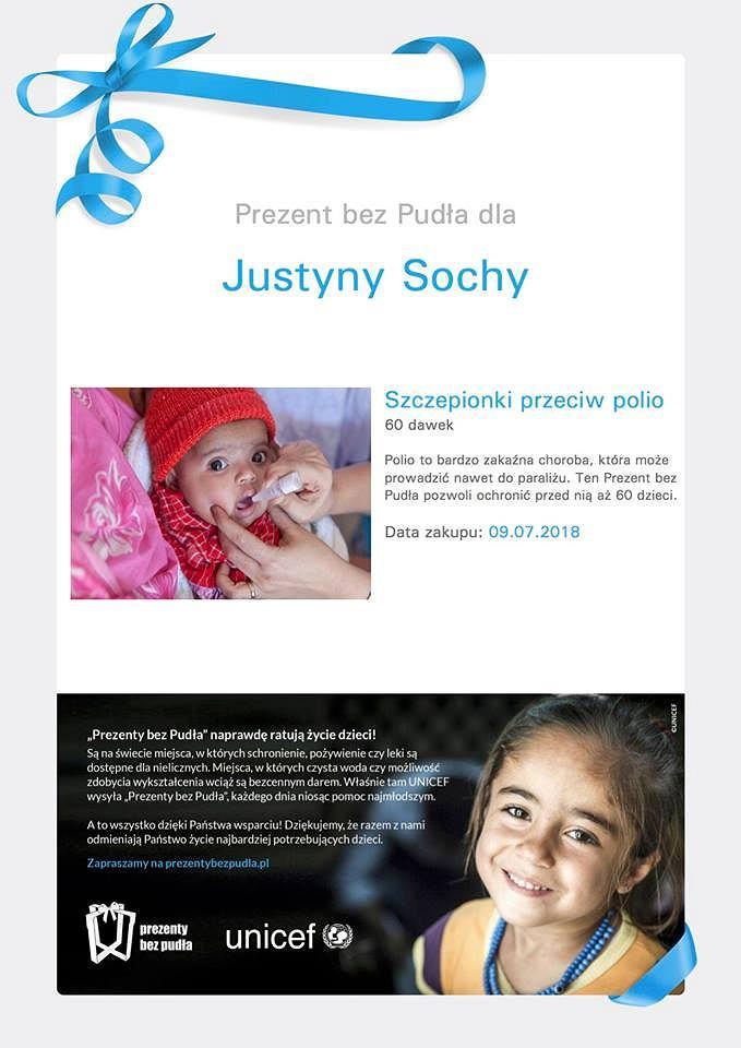 Zdjęcie ze strony na Facebooku 'Bukiet dla Justyny'.