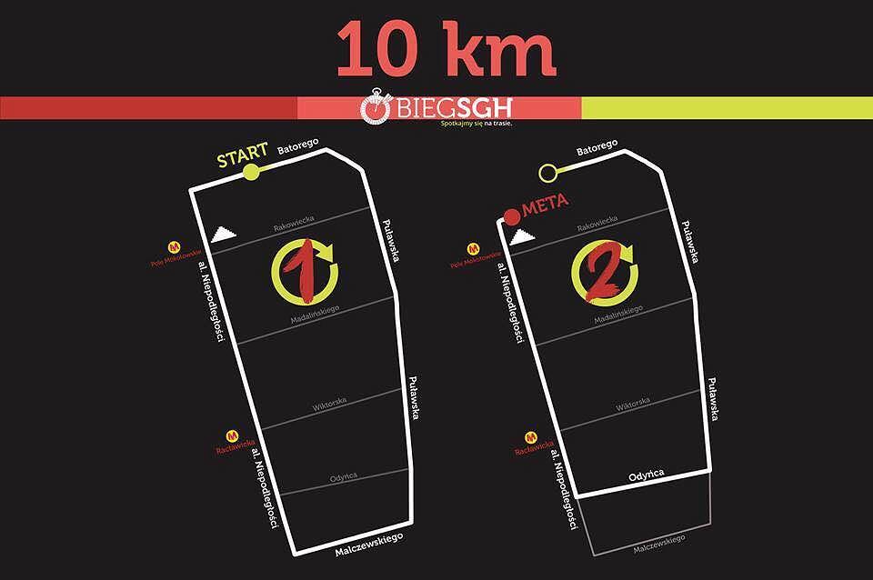 Bieg SGH - trasa 10 km