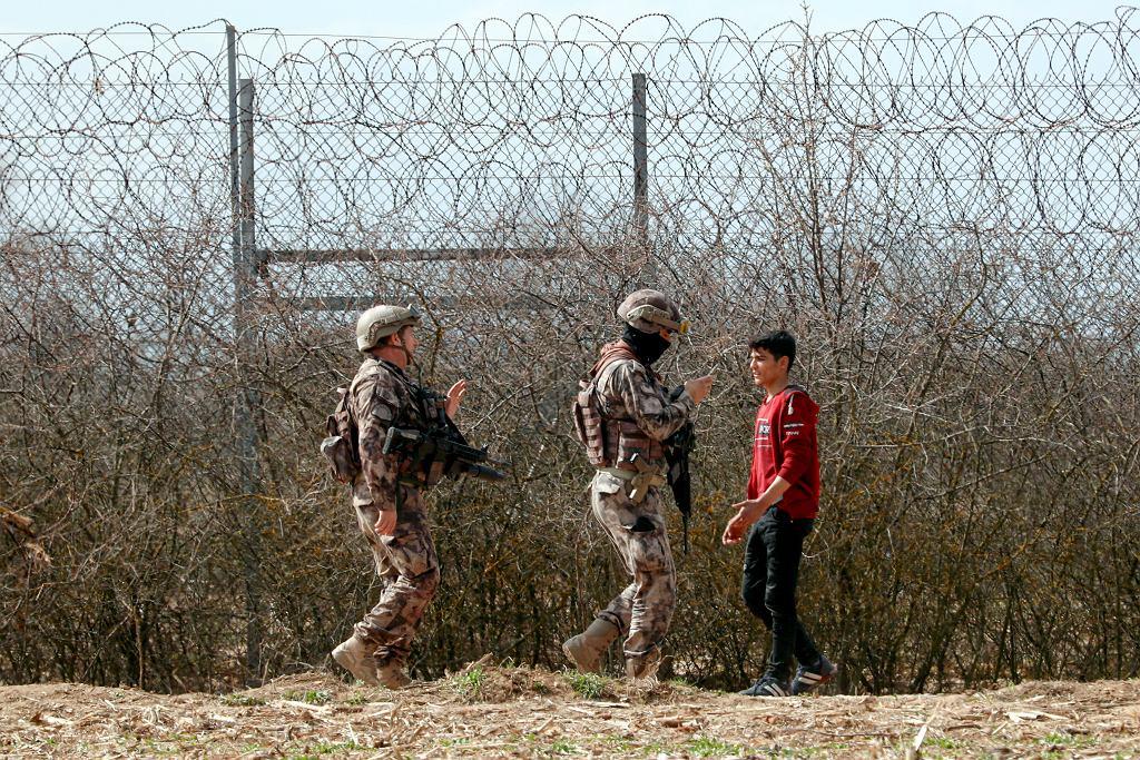 Tureckie wojsko na granicy Grecji