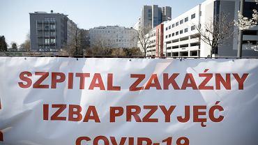 Epidemia koronawirusa w Polsce (na zdjęciu - szpital MSWiA przy ul. Wołoskiej)