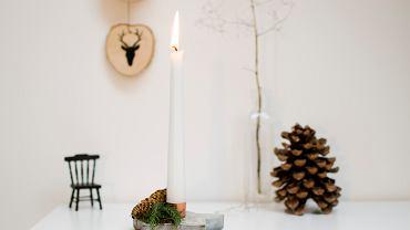 Betonowy świecznik