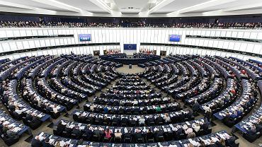 Sesja Parlamentu Europejskiego w Strasburgu.