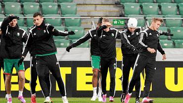 Piłkarze Legii podczas treningu przed meczem z Ajaksem
