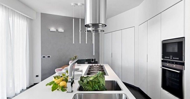 Okap kuchenny wyspowy w nowoczesnym stylu