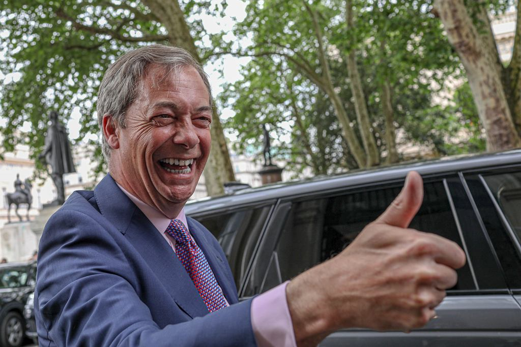 Lider Brexit Party Nigel Farage