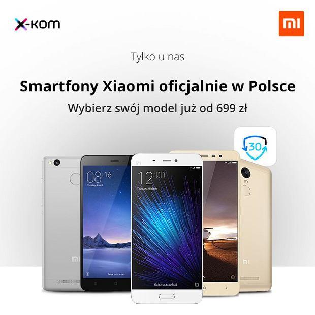 Smartfony Xiaomi w sieci sklepów X-Kom