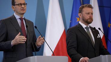 Mateusz Morawiecki i Łukasz Szumowski
