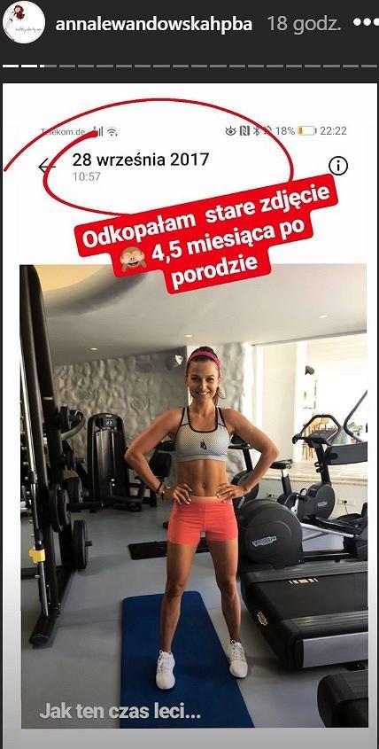 Anna Lewandowska wspomina formę po ciąży