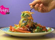 Witariańskie spaghetti z cukinii i marchewki. Warzywny zastrzyk energii - ugotuj