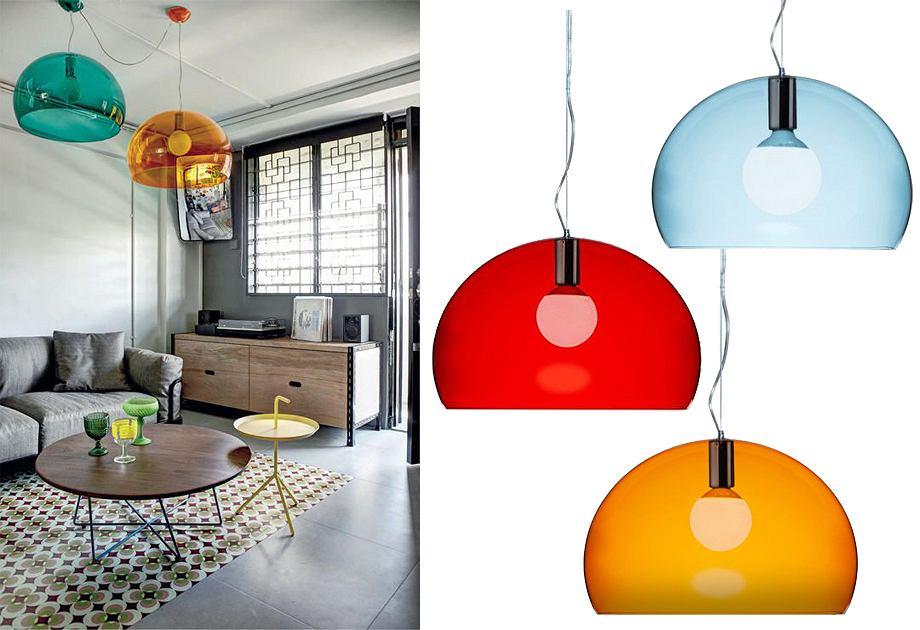 Lampa Fly firmy Kartell jest efektowna, ale uniwersalna - pasuje do każdego wnętrza