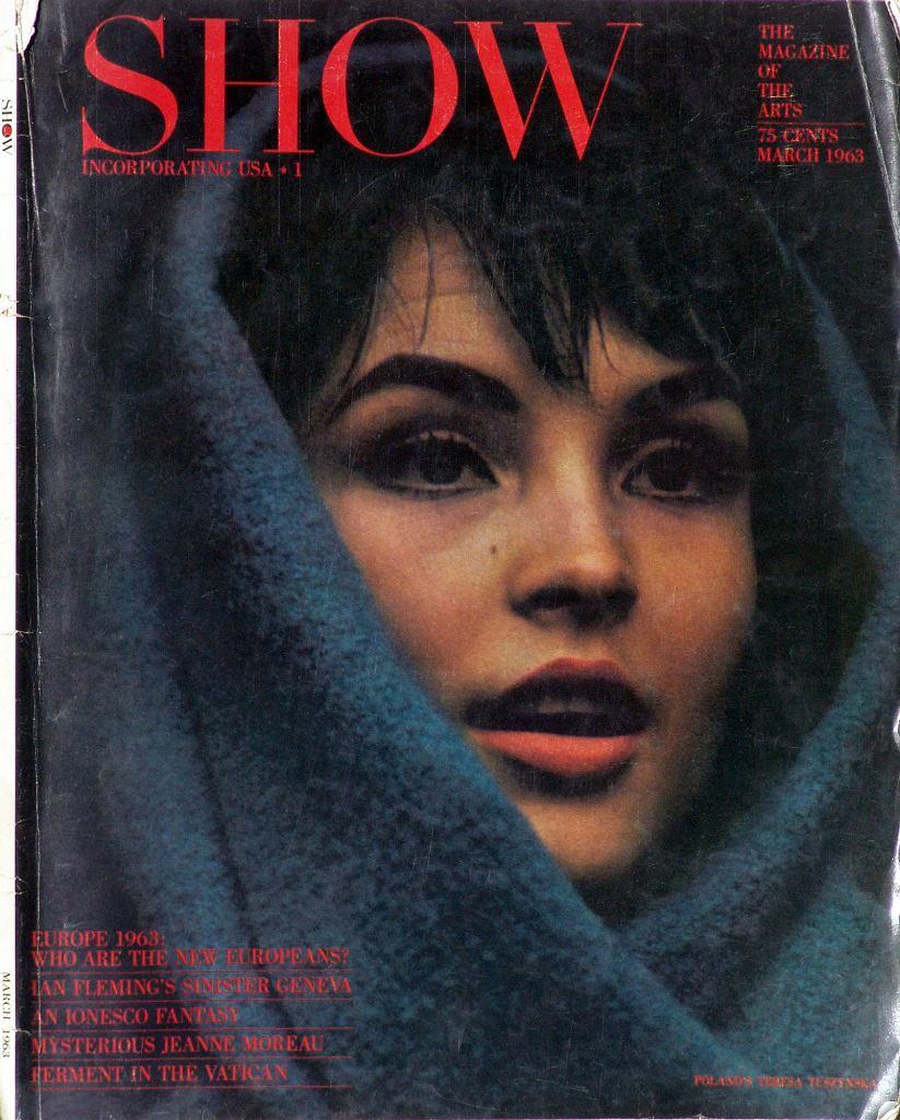 Teresa Tuszyńska na okładce amerykańskiego 'Show' / 1963 r.