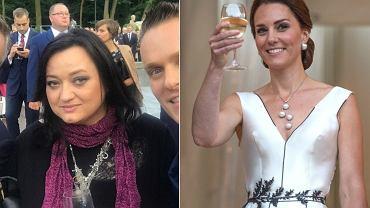 Gosia Baczyńska na przyjęciu w Łazienkach Królewskich. Do ostatniej chwili projektantka nie miała pewności, czy księżna Cambridge wybierze jej projekt. Media w Polsce i w Wielkiej Brytanii są zachwycone kreacją