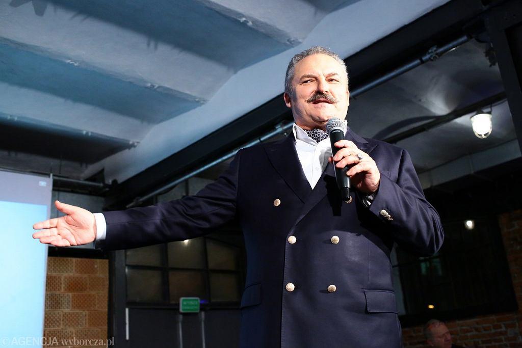 Poseł niezrzeszony Marek Jakubiak, lider partii Federacja dla Rzeczypospolitej