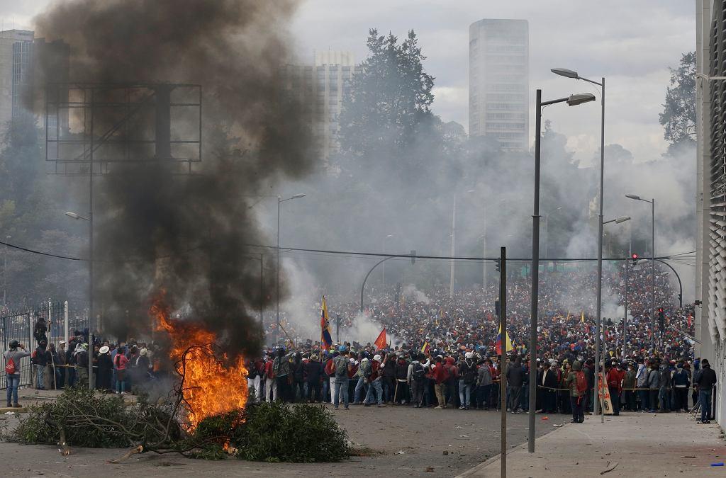 Protesty antyrządowe w Ekwadorze