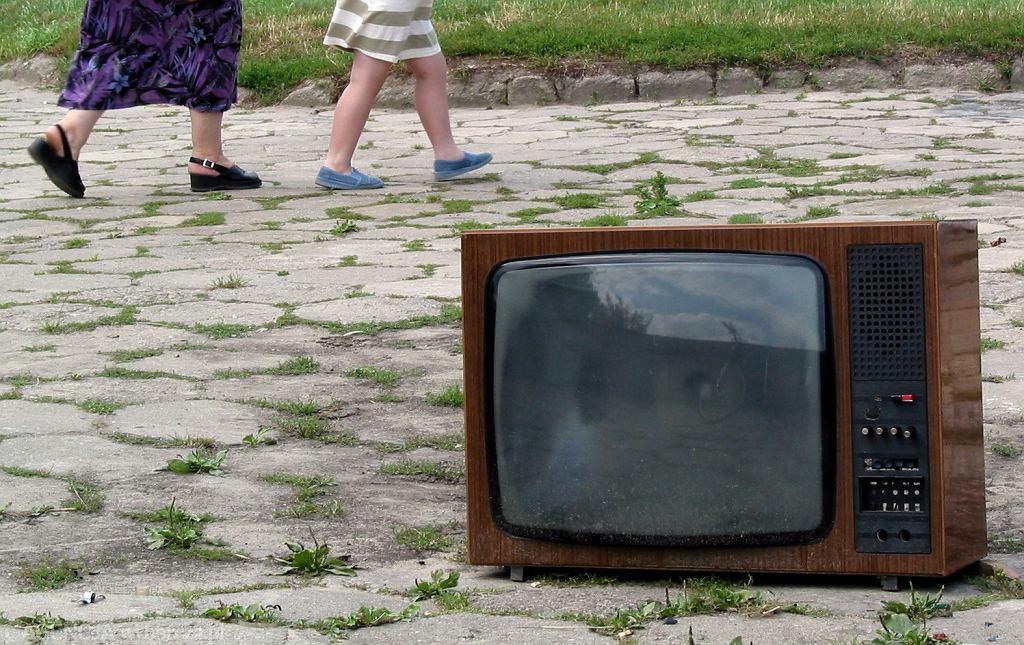 Telewizor na ulicy w Radomiu